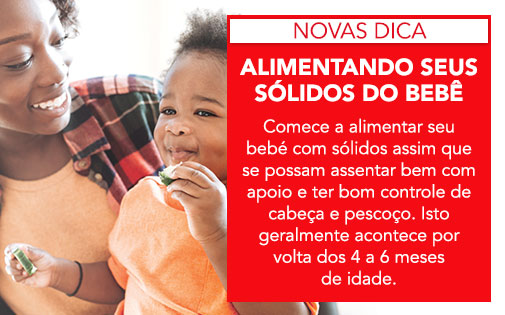 ALIMENTANDO SEUS SOLIDOS DO BEBÉ