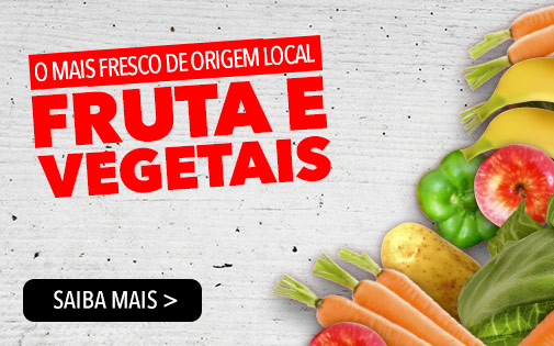 O MAIS FRESCO DE ORIGEM LOCAL FRUTA E VEGETAIS